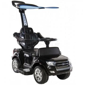 Περπατούρα αυτοκινητάκι Ford με λαβή γονέα και τέντα 5244003 Μαύρο