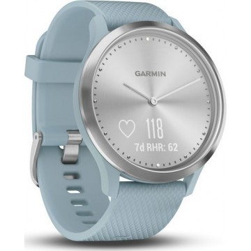 Garmin Vivomove HR Silver with Sea Foam