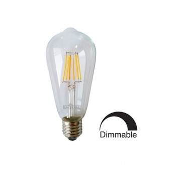 Λάμπα Ε27 γλόμπος ST64 LED Filament Universe 8W Dimmable