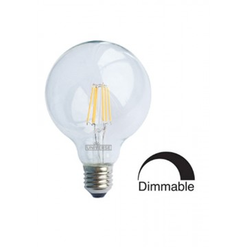 Λάμπα Γλόμπος G125 LED Filament Universe 8W Dimmable