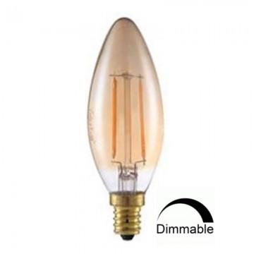 Λάμπα Ε14 Κερί C35 LED Filament Universe 4W μελί Dimmable