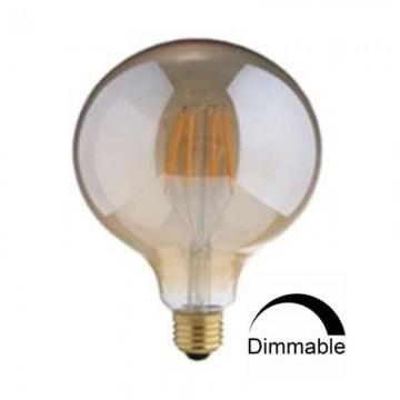 Λάμπα E27 γλόμπος G125 LED Filament Universe 7,5W μελί Dimmable