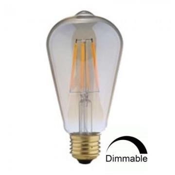 Λάμπα Ε27 γλόμπος ST64 LED Filament Universe 7W μελί Dimmable