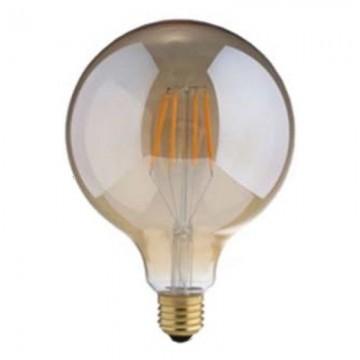 Λάμπα E27 γλόμπος G125 LED Filament Universe 8W μελί