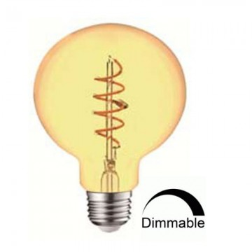 Λάμπα E27 γλόμπος G95 LED Filament art line Universe 4W μελί Dimmable