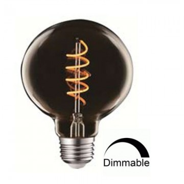 Λάμπα E27 γλόμπος G95 LED Filament art line Universe 4W smoky Dimmable
