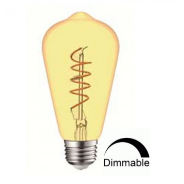 Λάμπα Ε27 γλόμπος ST64 LED Filament art line Universe 4W μελί Dimmable