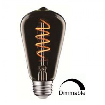 Λάμπα Ε27 γλόμπος ST64 LED art line Filament smoky Universe 4W Dimmable