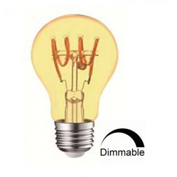Λάμπα LED E27 FILAMENT art line A60 Universe 4W μελί dimmable