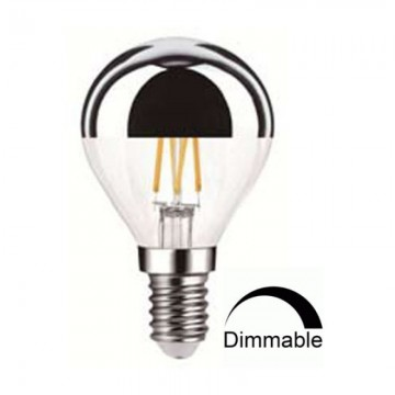 Λάμπα Ε14 Γλόμπος G45 LED art line Filament mirror Universe 4W dimmable