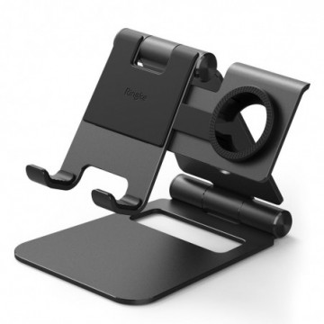 Ringke Super Folding Stand foldable phone, tablet and Apple Watch stand black (ACST0008)