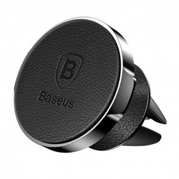 Baseus Small Ears Series  Leather Car Mount Holder black (SUER-E01)