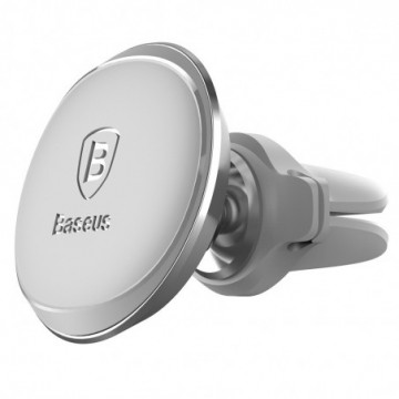 Baseus car mount holder with cable clip silver (SUGX-A0S)