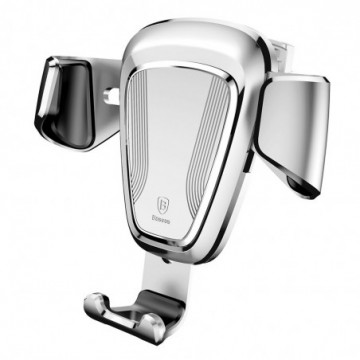 """Baseus Gravity Car Bracket  Holder for 4-6"""" Devices silver (SUYL-0S)"""