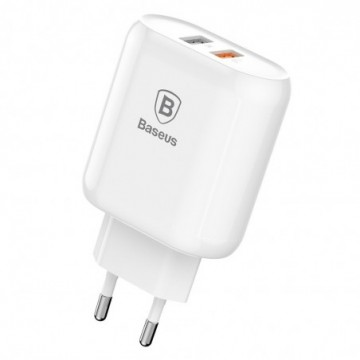 Baseus Bojure Series Travel Charger Adapter Wall Charger white (CCALL-AG02)