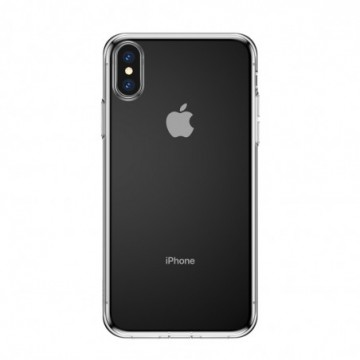 Baseus Simplicity TPU Case Flexible Cover with  Plug for iPhone XS / X transparent (ARAPIPH58-A02)