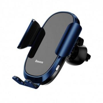 Baseus Smart Car Mount Gravity  Electric Auto Lock Holder blue (SUGENT-ZN03)