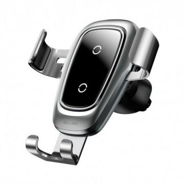 Baseus Metal Gravity Car Bracket  Holder Qi Charger (WXYL-B0S) silver