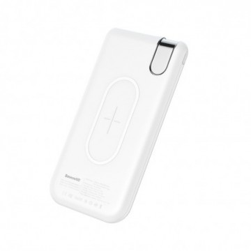 Baseus Thin Power Bank Qi 10000 mAh with Wireless Charging white (PPALL-QY02)