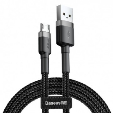 Baseus Cafule Cable Durable Nylon Braided Wire black-grey (CAMKLF-AG1)