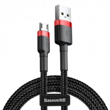 Baseus Cafule Cable Durable Nylon Braided Wire black-red USB / micro USB 0.5m (CAMKLF-A91)