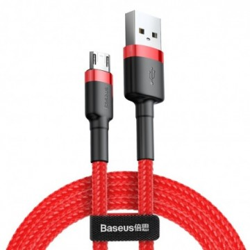 Baseus Cafule Cable Durable Nylon Braided Wire usb / micro usb red (CAMKLF-C09)