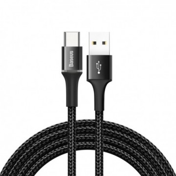 Baseus Halo Data Cable Durable Nylon Braided Wire LED Light 2A 2M black (CATGH-C01)