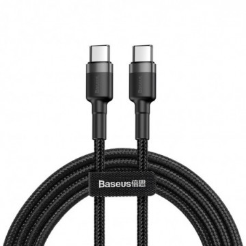 Baseus Cafule Cable Durable Nylon Braided Wire  1M black-grey (CATKLF-GG1)