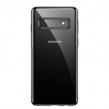 Baseus Shining Case Cover with Metallic Edges for Samsung Galaxy S10 Plus black (ARSAS10P-MD01)