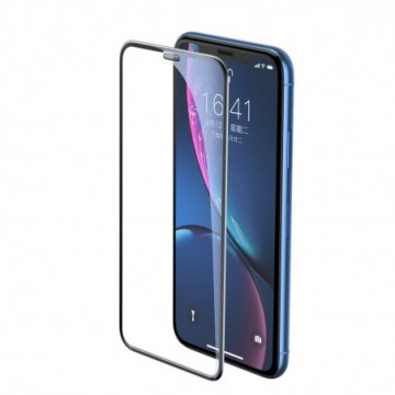 Baseus Tempered Glass with Speaker Protector for Apple iPhone XR / iPhone 11 black (SGAPIPH61-WA01)