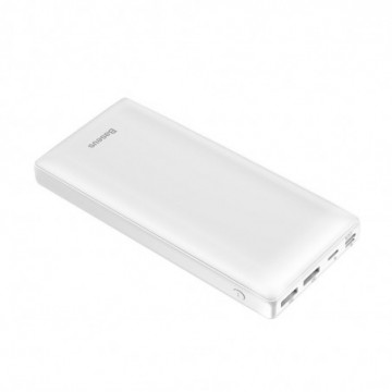 Baseus Mini JA Power Bank 30000 mAh USB / USB-C PD / micro USB / Lightning 3A white (PPJAN-C02)