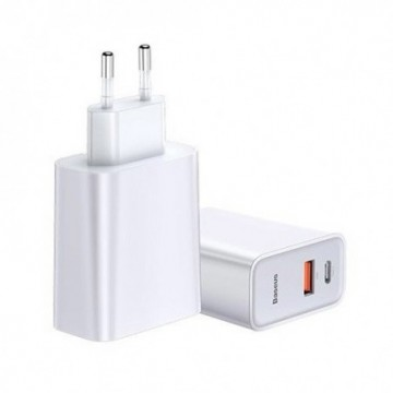 Baseus Speed PPS Quick charger C+U 30W EU USB / USB Type C PD Quick Charge 3.0 QC3.0 White (CCFS-C02)