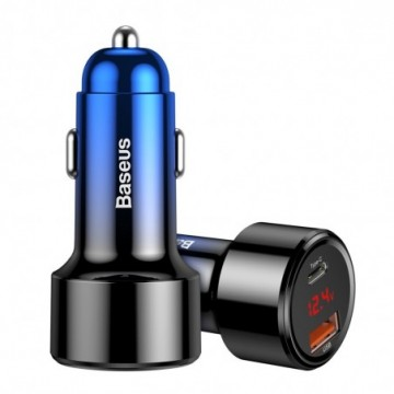 Baseus Magic Series PPS Car Charger with digital display PD QC4+ 45W 6A Blue(CCMLC20C-03)
