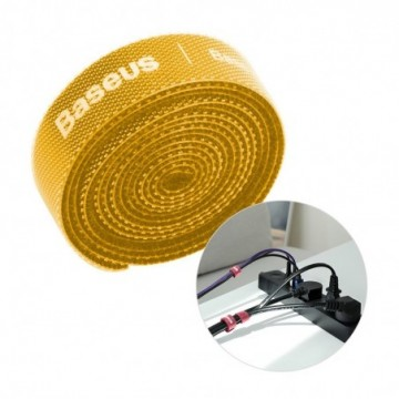 Baseus Rainbow Circle Velcro Straps to organizing cables 1m Yellow (ACMGT-E0Y)