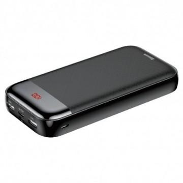 Baseus Mini Cu power bank 20000mAh 2x USB / USB Typ C PD 3A black (PPALL-CKU01)