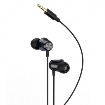 Baseus Encok H13 in-ear earphone 3.5mm mini jack headset with remote control black (NGH13-01)