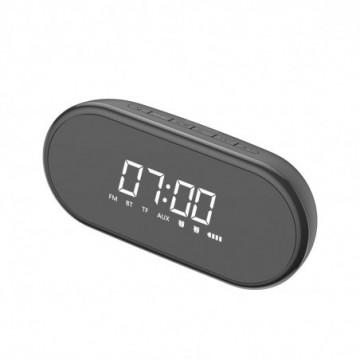Baseus Encok E09 Stylish Portable Wireless Bluetooth Speaker with alarm clock black (NGE09-01)