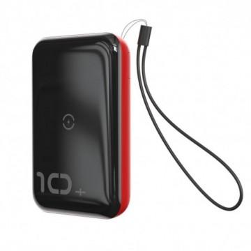 Baseus Mini S Bracket Power Bank 10000mAh 18W with Qi 10W red (PPXFF10W-19)
