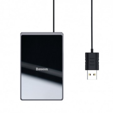 Baseus Ultra-thin Qi Inductive Pad 15W with USB Cable 100cm black (WX01B-01)