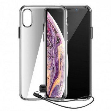 Baseus Transparent Key case cover for iPhone XS Max black (WIAPIPH65-QA01)