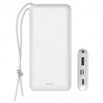 Baseus Mini Q Digital Display PD Compact Power Bank 20000 mAh 15W 3A white (PPALL-DXQ02)
