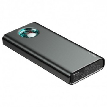 Baseus Amblight Power Bank 20000 mAh with Display Power Delivery PD3.0 Quick Charge QC3.0 18W black (PPALL-LG01)