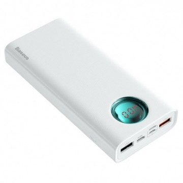 Baseus Amblight Power Bank 20000 mAh with Display Power Delivery PD3.0 Quick Charge QC3.0 18W white (PPALL-LG02)