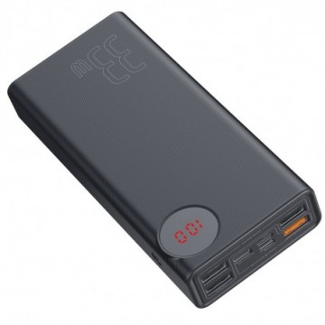 Baseus Mulight Power Bank 30000 mAh with Display Power Delivery PD3.0 Quick Charge QC3.0 33W black (PPMY-01)