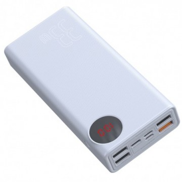 Baseus Mulight Power Bank 30000 mAh with Display Power Delivery PD3.0 Quick Charge QC3.0 33W white (PPMY-02)