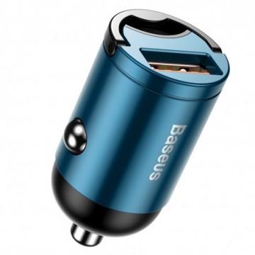 Baseus Tiny Star Mini Quick Charge Car Charger USB Port 30W Blue (VCHX-A03)