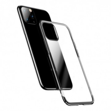 Baseus Glitter Hard PC Case Transparent Electroplating Cover for iPhone 11 Pro Max black (WIAPIPH65S-DW01)