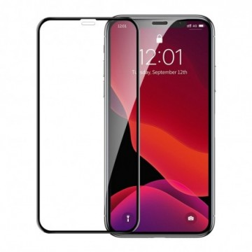 Baseus screen protector with crack-resistant edges For iPhone XR / iPhone 11 Black (SGAPIPH61-APE01)