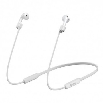 Baseus Sports Collared Silicone Hanging Sleeve strap For AirPods 1/2 Generation White (ARAPPOD-02)