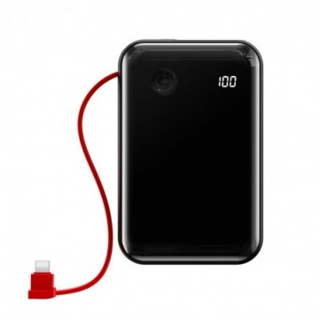 Baseus Mini S Digital Display 3A Power Bank 10000mAh with IP Cable black (PPXF-B01)